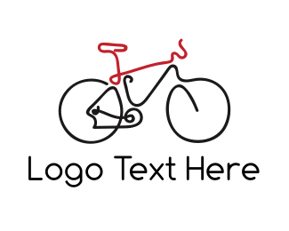 Tourist - Bike Outline logo design