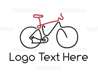 Outlines - Bike Outline logo design