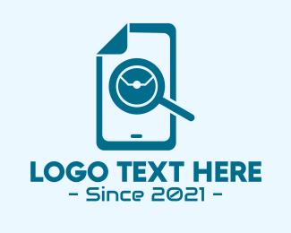 Technician - Blue Phone Technician logo design