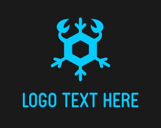 Snowflake - Snow Crab logo design
