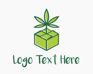 Crate - Cannabis Box logo design
