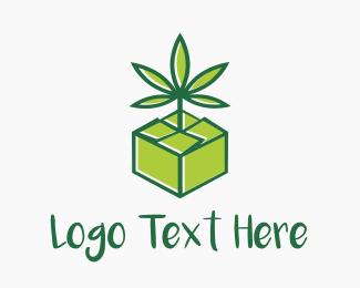 Weed - Cannabis Box logo design