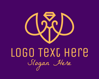 Rhinestone - Luxurious Bee Diamond logo design