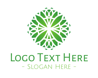 Circular - Green Gradient Flower logo design