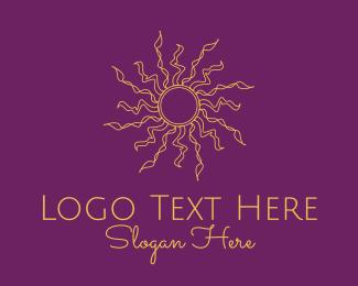 Heavens - Dainty Astrology Sun  logo design