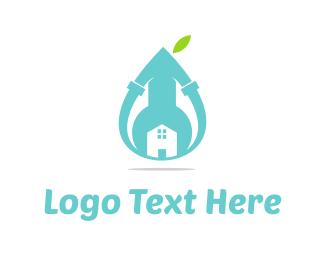 Gas - Blue Plumbing  logo design