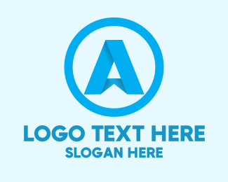 Peak - Folded Letter A logo design