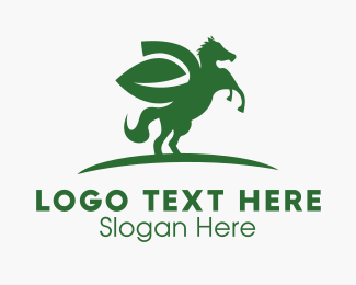 Ecological - Horse Leaf logo design