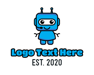 Call Center - Blue Robot logo design
