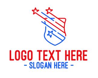 Protection - Patriotic Shield Protection  logo design