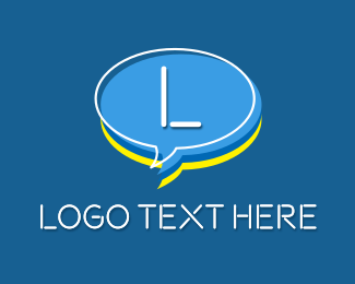 Virtual - Chat Head Letter logo design