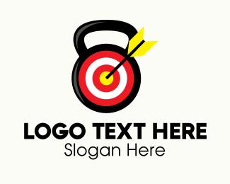 Goal - Target Fitness Kettlebell logo design