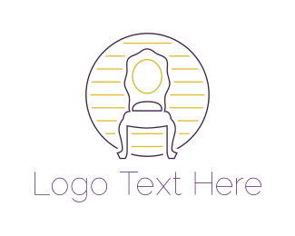 Antiquarian - Antique Chair logo design