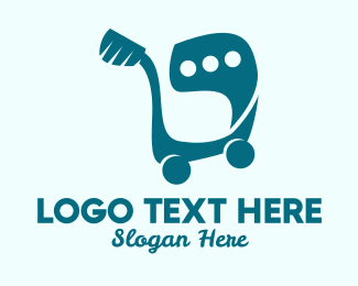 Push Cart - Shopping Cart Message  logo design