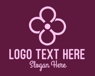 Loop - Feminine Loop Flower logo design