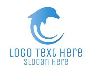 Sea - Dolphin Wave logo design