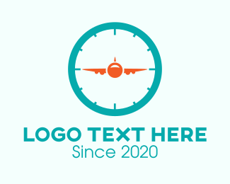 Timer - Air Travel Timer logo design