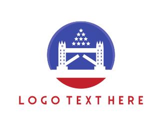 Monument - White Bridge logo design