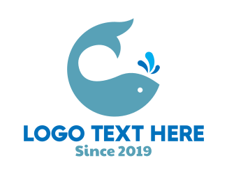 Diving - Whale Seafood Park logo design