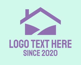 Tradesman - Purple Home logo design