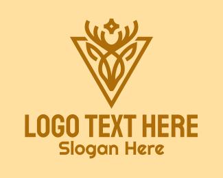 Doe - Minimalist Deer Emblem logo design