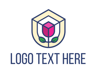 Mosaic - Mosaic Flower Shield logo design