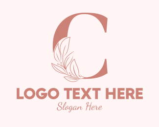 Aesthetics - Elegant Leaves Letter C logo design