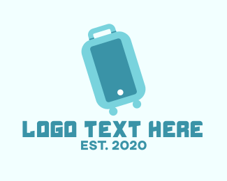Voyage - Blue Luggage Bag logo design