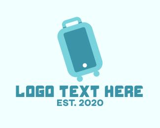 Voyage - Blue Luggage Bag logo design