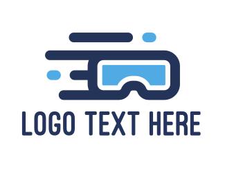 Flying - Flying VR logo design