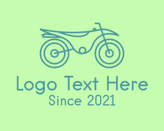 Motorbike - Green Motorbike Vehicle logo design