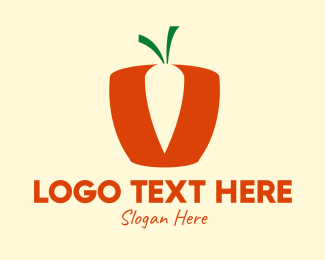 Basket - Simple Carrot Basket  logo design