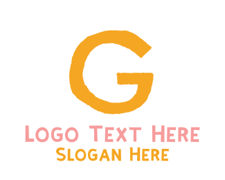 Preschool - Preschool Orange Letter G logo design