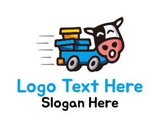 Cattle - Cow Truck logo design