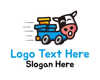 Move - Cow Truck logo design