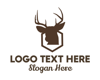 Deer - Deer Hexagon logo design
