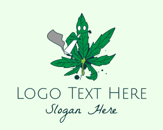 Smoker - Cannabis Weed Smoker logo design