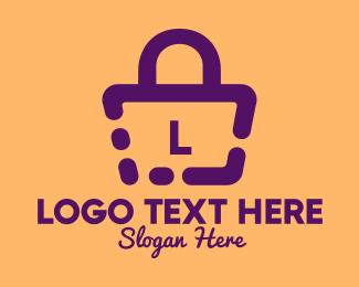Shopping Website - Simple Handbag Lettermark  logo design