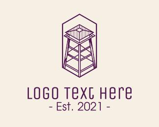 Fortification - Minimalist Watchtower logo design
