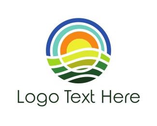 Paradise - Round Nature logo design