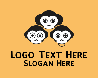 Three - Three Monkeys logo design