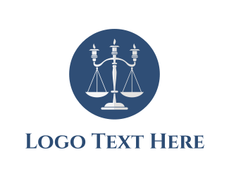 Law - Candle Laws logo design