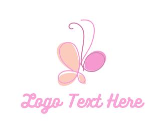 Butterfly - Cute Butterfly logo design