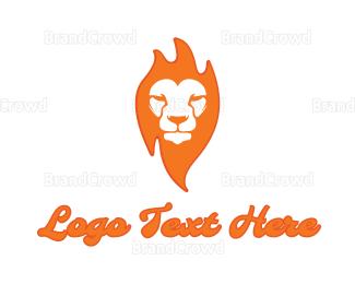 Lioness - Fire Lion logo design