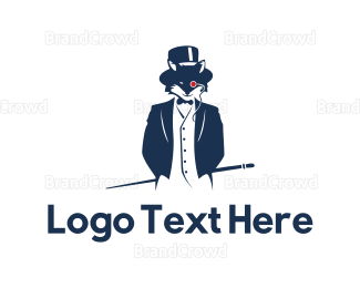 Elegant Blue Fox logo design