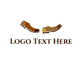 Feet - Brown Shoes logo design