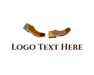 Walking - Brown Shoes logo design