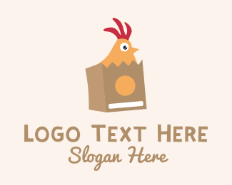 Chicken Nugget - Chicken Delivery Mascot  logo design