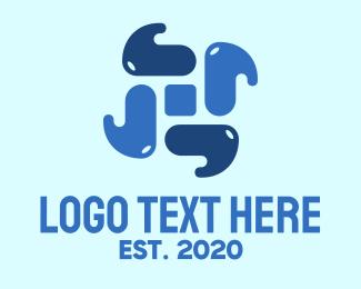 Element - Blue Water Element logo design