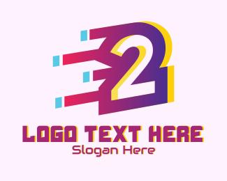 Letter - Speedy Number 2 Motion logo design